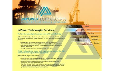 Screenshot of Services Page impowertechnologies.com.au - Impower Technologies: Services - captured Sept. 30, 2014
