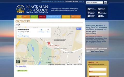 Screenshot of Maps & Directions Page blackmansloop.com - Map | Blackman & Sloop, CPAs, P.A. - captured Oct. 5, 2014