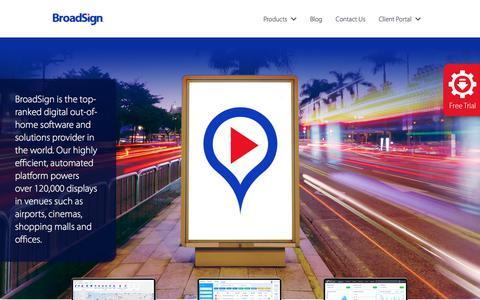 Screenshot of Home Page broadsign.com - Cloud-based Digital Signage Software Solutions | BroadSign - captured June 2, 2017