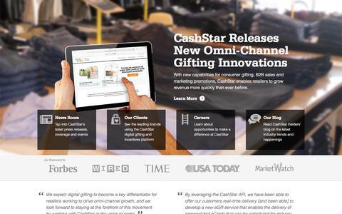 Screenshot of About Page cashstar.com - Digital eGift Card Programs - Digital Gifting Solutions - captured June 16, 2015
