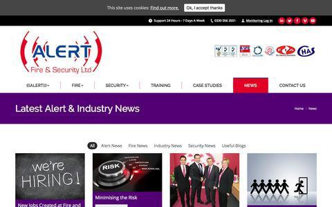 Screenshot of Press Page alertfireandsecurity.co.uk - News - Alert Fire & Security Ltd - captured Oct. 7, 2017