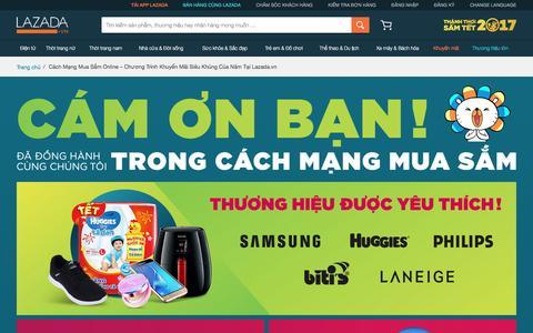 Screenshot of lazada.vn - Cách Mạng Mua Sắm Online – Chương Trình Khuyến Mãi Siêu Khủng Của Năm Tại Lazada.vn - captured Jan. 30, 2017