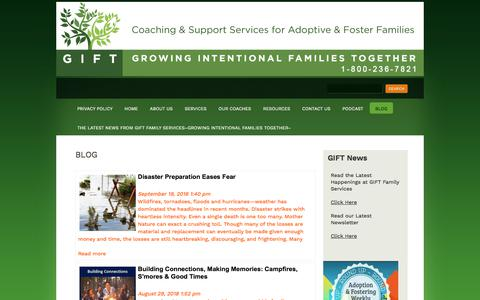 Screenshot of Blog giftfamilyservices.com - Adoption Related Blog Articles | Gift Family Services - captured Sept. 25, 2018