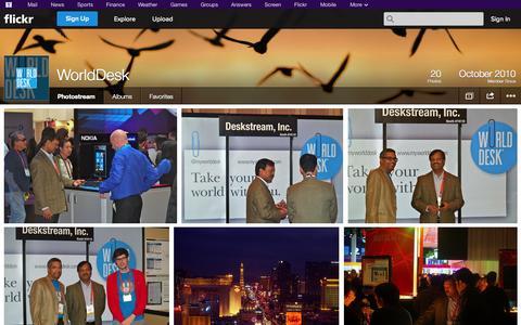 Screenshot of Flickr Page flickr.com - Flickr: WorldDesk's Photostream - captured Oct. 22, 2014