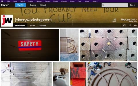 Screenshot of Flickr Page flickr.com - Flickr: joineryworkshopcom's Photostream - captured Oct. 23, 2014