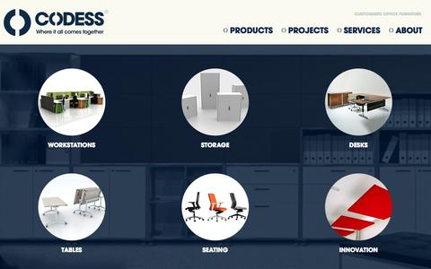 Screenshot of Products Page codess.com.au - Office Furniture Products - Codess - captured Oct. 3, 2014