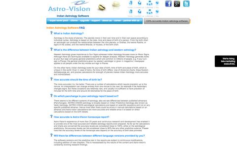 Screenshot of FAQ Page indianastrologysoftware.com - Frequently Asked Questions Section - captured Sept. 18, 2014