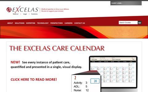 Screenshot of Home Page excelas1.com - Medical Legal Solutions    Excelas - captured Oct. 3, 2014