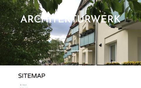 Screenshot of Site Map Page jimdo.com - Sitemap - Architektur und Technik - captured Oct. 8, 2017