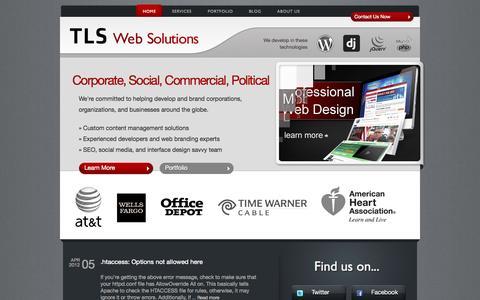 Screenshot of Home Page tlswebsolutions.com - Web Design, Web Development - TLS Web Solutions - captured Oct. 7, 2014