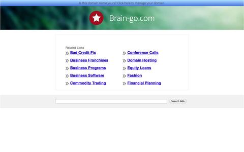Screenshot of Home Page brain-go.com captured Oct. 5, 2014