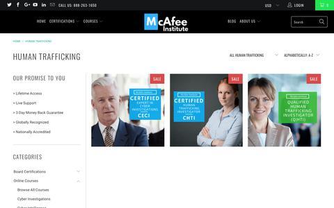 Human Trafficking - McAfee Institute