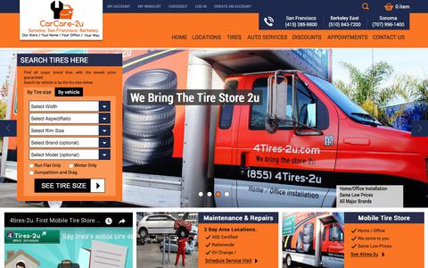 Screenshot of Home Page Site Map Page carcare-2u.com - CarCare-2u - Tires, brakes and auto repair in the Bay Area - captured Sept. 21, 2018