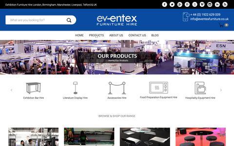 Screenshot of Products Page eventexfurniture.co.uk - shop - captured Sept. 29, 2018