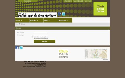 Screenshot of Login Page club-bellaterra.com - Entrada / Club Bellaterra - captured Jan. 27, 2017