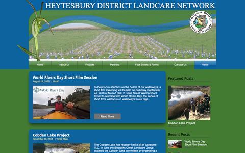 Screenshot of Press Page heytesburylandcare.org.au - heytesburylandcare | News - captured Nov. 8, 2016