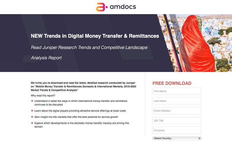amdocs 2018 Mobile Financial Services Juniper Research Trends Report