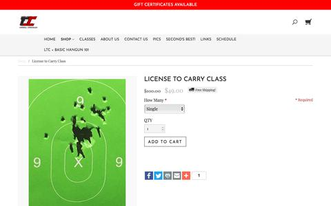 Screenshot of Signup Page carrollconcealed.com - License to Carry Class | Carroll Concealed - captured Feb. 15, 2018