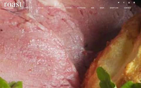 Screenshot of Home Page roast-restaurant.com - Roast Restaurant | Deliciously British - captured Jan. 30, 2016