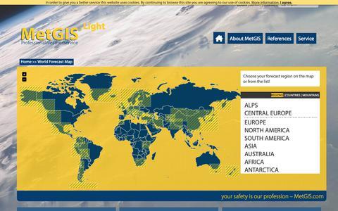 Screenshot of Maps & Directions Page metgis.com - MetGIS - Professional Weather Service - captured Oct. 24, 2018