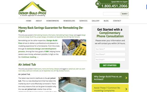 Screenshot of Blog designbuildpros.com - Contractors and Home Remodeling Blog Articles, Guides, and Resources - captured Sept. 30, 2014