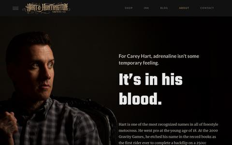 Screenshot of About Page hartandhuntington.com - About Hart & Huntington and Carey Hart | Hart & Huntington - captured Jan. 19, 2018