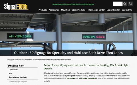 Bank Commercial Lane Drive-Up Lights | ATM Night Drop Bank Lane Signs | Drive Thru Teller Night Deposit Lights | Signal-Tech