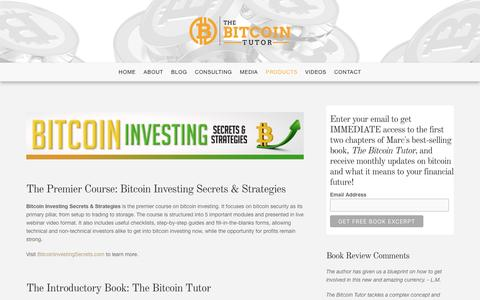 Screenshot of Products Page thebitcointutor.com - Products - The Bitcoin Tutor - captured Dec. 11, 2016