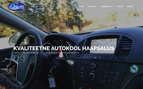 Screenshot of Home Page klimbergak.ee - Klimberg Autokool - Kvaliteetne koolitus Haapsalus - captured Feb. 3, 2018