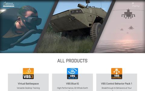 Screenshot of Products Page bisimulations.com - | BISim - captured Jan. 12, 2018