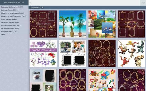 Screenshot of Home Page photoshop-kopona.com - Photoshop-Kopona.com - Free Photoshop Resources - captured Aug. 22, 2016