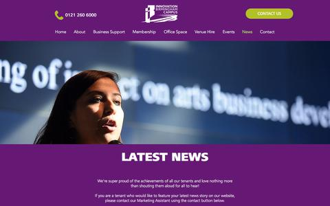 Screenshot of Press Page innovationbham.com - News | Innovation Birmingham - captured Aug. 5, 2017