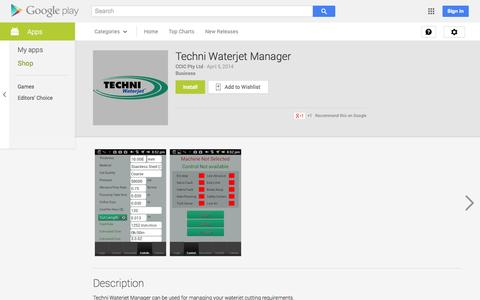 Screenshot of Android App Page google.com - Techni Waterjet Manager - Android Apps on Google Play - captured Oct. 26, 2014