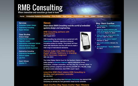 Screenshot of Press Page rmbconsulting.us - RMB Consulting: Embedded Systems Design and Consulting   » News - captured Sept. 30, 2014