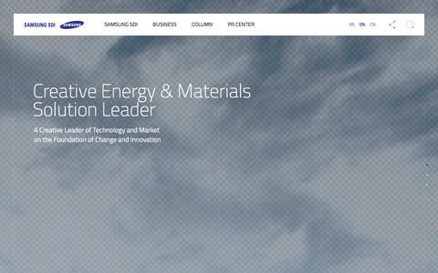 Screenshot of Home Page samsungsdi.com - Samsung Li-Ion Battery & Renewable Energy   Samsung SDI Official Site - captured June 27, 2019
