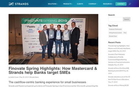 Screenshot of Press Page strands.com - Strands News Archives - Strands.com - captured June 5, 2019