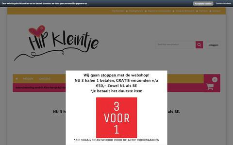 Screenshot of Home Page hipkleintje.nl - Betaalbare baby- en peuterkleding bij HipKleintje.nl               -         HipKleintje.nl - captured Nov. 5, 2018