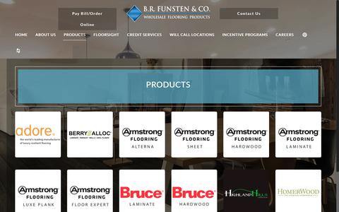 Screenshot of Products Page brfunsten.com - Floorsight | Wholesale Flooring Products | B.R. Funsten & CO. - captured May 31, 2017