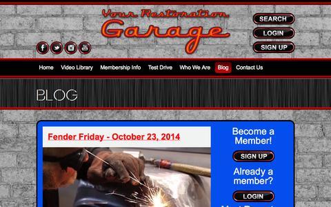 Screenshot of Blog yourrestorationgarage.com - Blog | Your Restoration Garage - captured Oct. 26, 2014