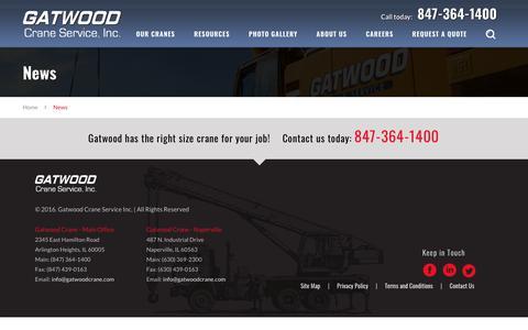 Screenshot of Press Page gatwoodcrane.com - News - Gatwood Crane Service, Inc. - captured Sept. 27, 2018