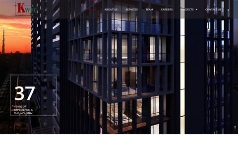 Screenshot of Home Page kwec.ae captured Oct. 14, 2018