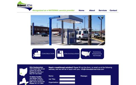 Screenshot of Home Page midwestatmservices.com - Midwest ATM Coast2Coast Solutions - captured Oct. 6, 2014