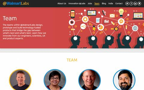 Screenshot of Team Page walmartlabs.com - Team | @WalmartLabs - captured Feb. 2, 2016