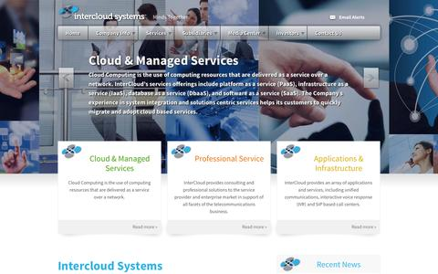 Screenshot of Home Page intercloudsys.com - InterCloud Systems, Inc. (ICLD) - captured Sept. 16, 2014
