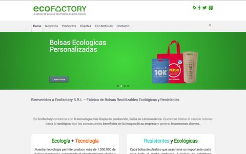 Screenshot of Home Page ecofactory.com.ar - ECOFACTORY S.R.L - captured Oct. 1, 2014