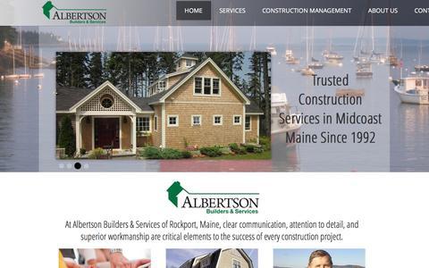 Screenshot of Home Page albertsonbuilders.com - Albertson Builders & Services - captured Nov. 20, 2016