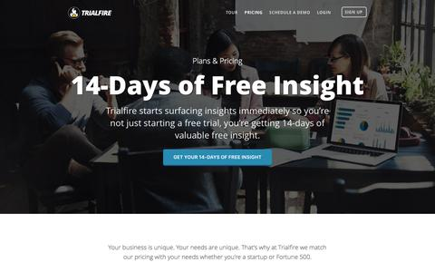 Pricing | Customer Intelligence & Analytics | Trialfire