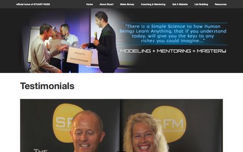 Screenshot of Testimonials Page stuart-ross.com - Stuart Ross Review   Stuart-Ross.com - captured Nov. 2, 2014
