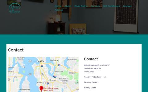 Screenshot of Contact Page ascendwell.com - Contact - Ascension Wellness Center - captured Nov. 13, 2018