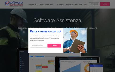 Screenshot of Home Page softwareassistenza.com - Gestionale cloud per assistenza tecnica, fatturazione e magazzino - captured Oct. 21, 2018